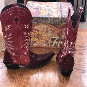 Shoes - Cowboy Red Boots
